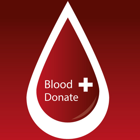 hematology: a red background with an isolated blood drop and text