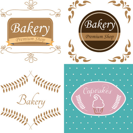 colored backgrounds: a set of colored backgrounds with different label designs