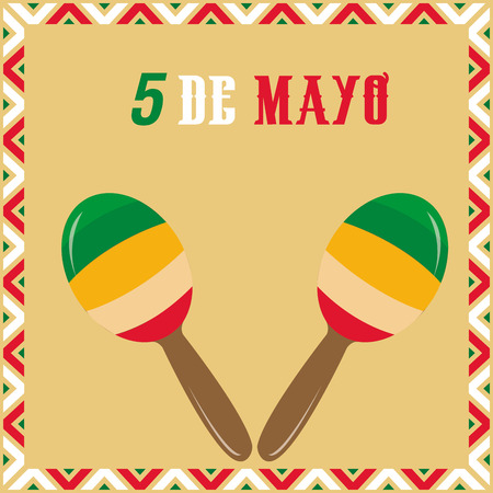 commemorative: Colored background with traditional elements for may 5th