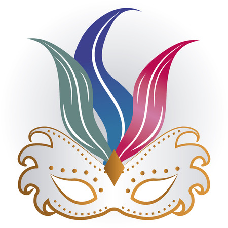 mardi grass: Isolated carnival mask on a background. Vector illustration Illustration