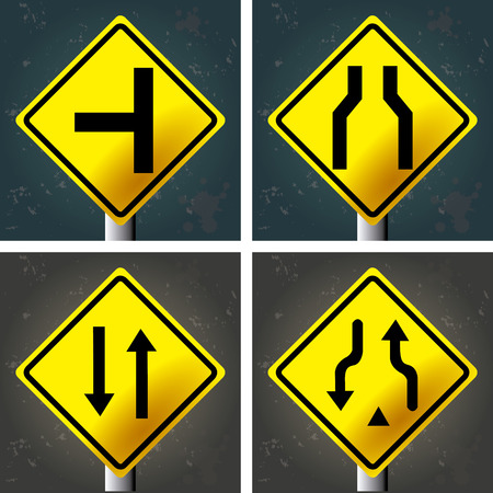 textured backgrounds: Set of textured backgrounds with traffic signals. Vector illustration