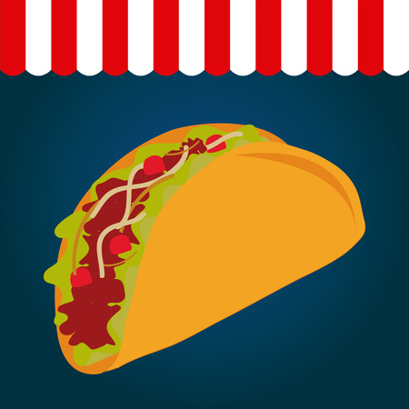 burrito: Colored background with an isolated burrito. Vector illustration