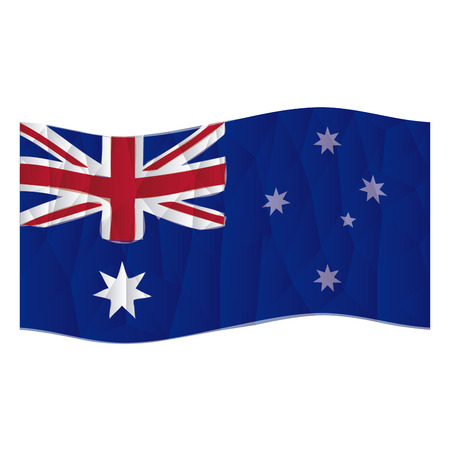 australische flagge: Isolated australische Flagge auf einem wei�en Hintergrund. Low Poly Vektor-Illustration Illustration