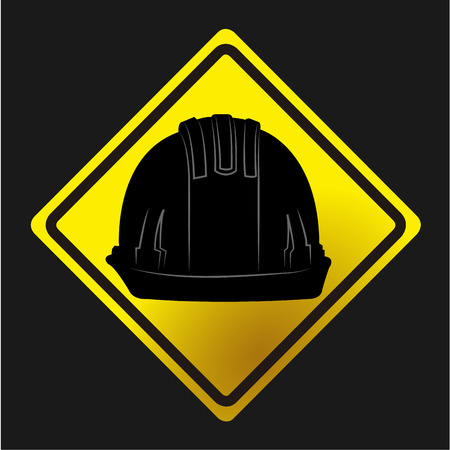 under construction icon: Isolated label with an under construction icon. Vector illustration