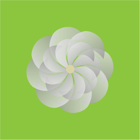 appoints: Isolated flower on a colored background. Vector illustration