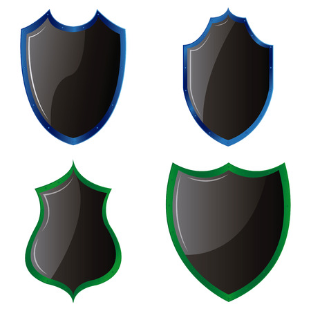 Set of heraldry shields on a white background. Vector illustration Vector