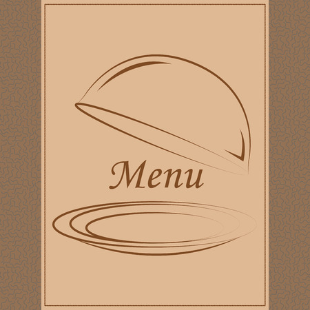 Colored menu design with text and elements. Vector illustration