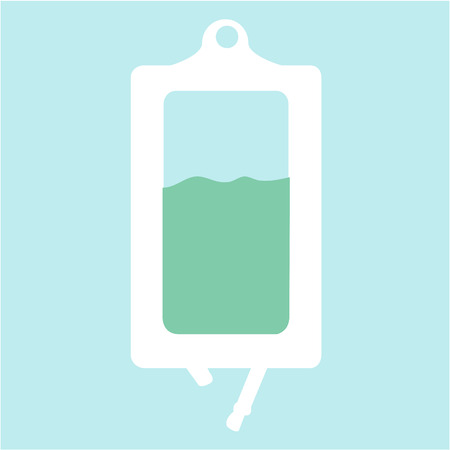 blood transfer: Isolated medical icon on a colored background. Vector illustration