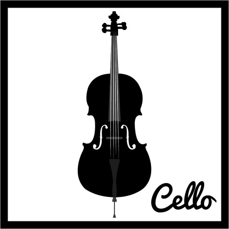 Isolated silhouette of a musical instrument. Vector illustration