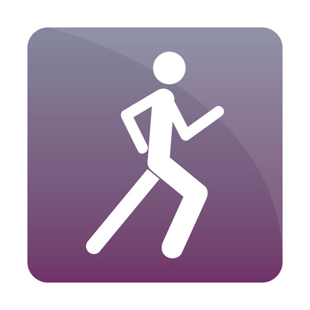 Isolated fitness icon on a colored background. Vector illustration