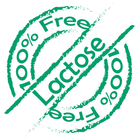 Isolated label with text for lactose free products. Vector illustration Illustration