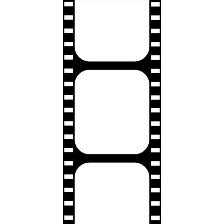 cinta pelicula: Icono del cine aislado en un fondo blanco. Ilustración vectorial