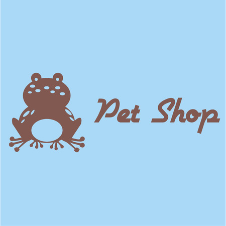 frog: Colored background with a silhouette of a frog. Vector illustration