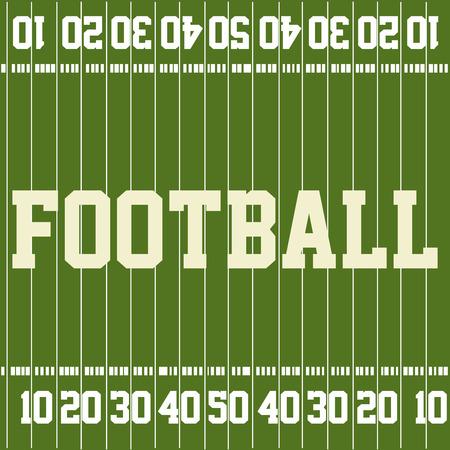 terrain football: terrain de football vert avec du texte et des chiffres. Vector illustration