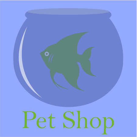 fishbowl: Isolated fishbowl with a fish on a colored background. Vector illustration Illustration