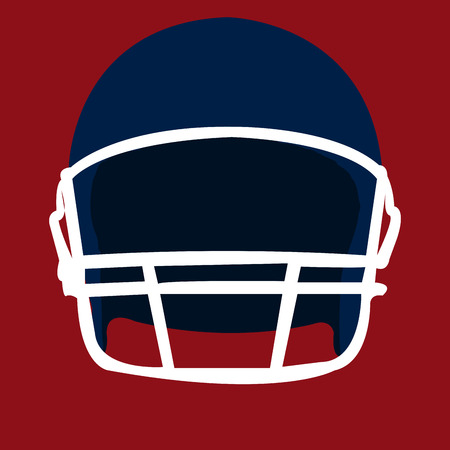 helm: Isolated football helm on a red background. Vector illustration Illustration