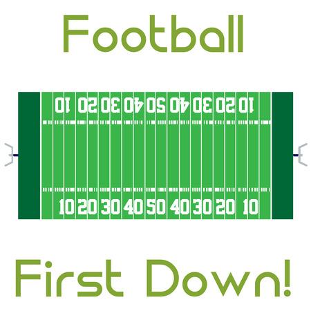 campo di calcio: Campo di calcio isolato con il testo. Illustrazione vettoriale Vettoriali