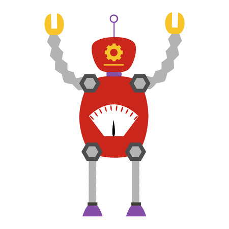 iron fun: Isolated robot toy on a white background. Vector illustration Illustration
