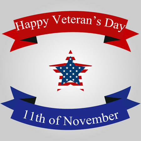 veteran: Colored background with text for veterans day. Vector illustration Illustration