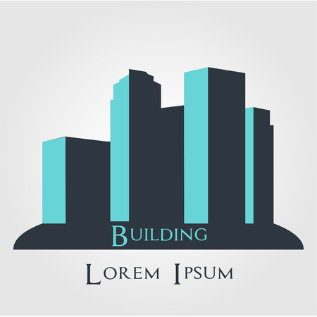 abstract logos: Isolated abstract buildings for company logos. Vector illustration