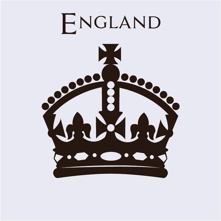 royal crown: Aislado de la corona británica sobre un fondo blanco. ilustración vectorial Vectores