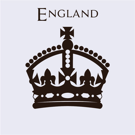 crown silhouette: Isolated british crown on a white background. Vector illustration Illustration