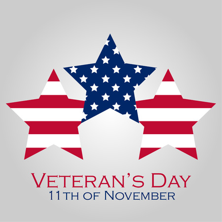 Colored background with text for veteran's day. Vector illustration