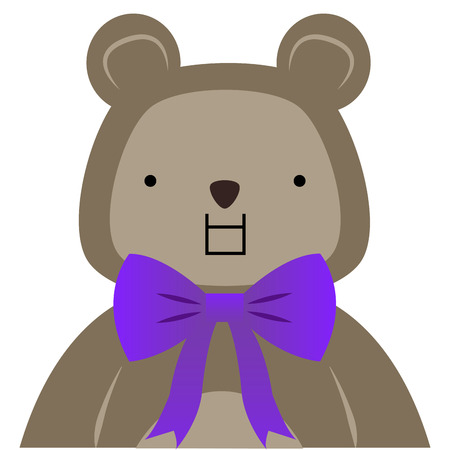 emote: Isolated teddy bear with facial expressions. Vector illustration