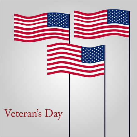 Colored background with text for veterans day. Vector illustration Illustration