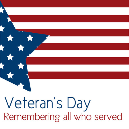 Colored background with text for veterans day. Vector illustration Ilustracja
