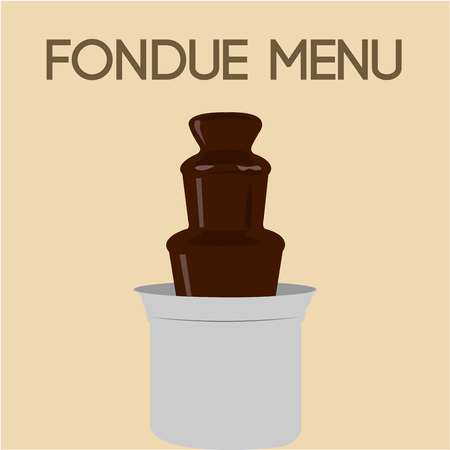 fondue: Colored background with hot chocolate and text. Vector illustration Illustration