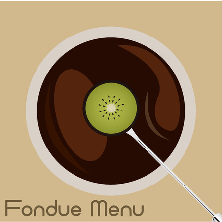 chocolate caliente: Colored background with hot chocolate and text. Vector illustration Vectores