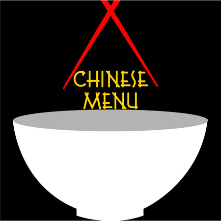 chinese menu: Colored chinese menu design with text. Vector illustration
