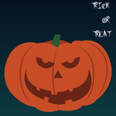 jack o' lantern: Isolated jack o lantern on a colored background. Vector illustration Illustration