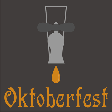 bavarian culture: Colored background with text and traditional elements for oktoberfest Illustration