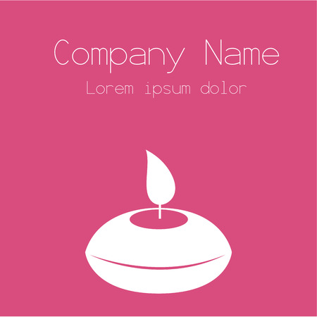 cosmetician: Colored background with text and spa icons