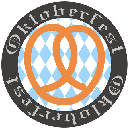 german tradition: Isolated label with traditional elements for oktoberfest
