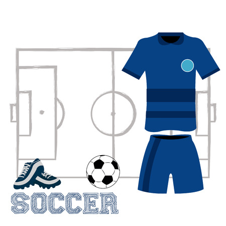 snickers: Isolated sport uniform and some soccer elements Illustration