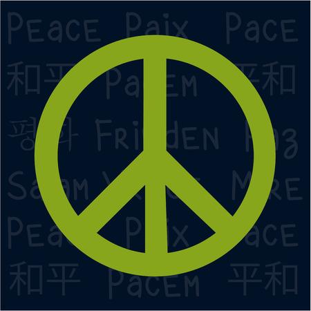 simbolo della pace: Isolata simbolo della pace su uno sfondo colorato