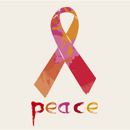 pacifist: Isolated peace symbol on a colored background