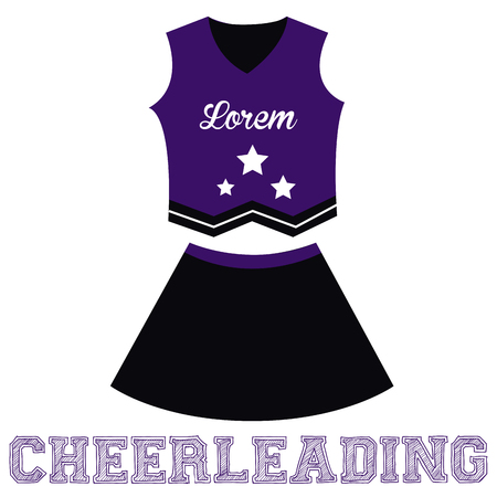 cheerleading: Isolated sport uniform and some cheerleading elements