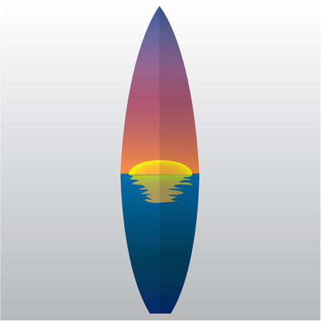 Isolated surfboard with a texture on a white background