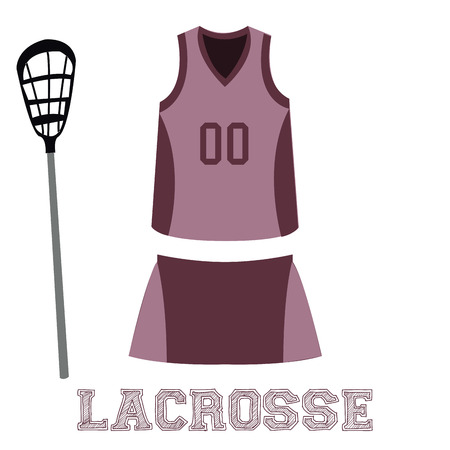lacrosse: Isolated sport uniform and some lacrosse elements