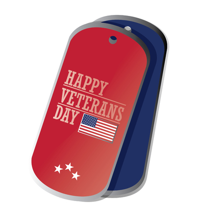 Isolated label with text and colors for veteran's day Фото со стока - 47492497