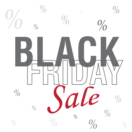 A black friday background with text and icons Illustration