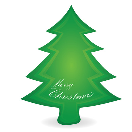 tree isolated: Isolated christmas tree on a white background
