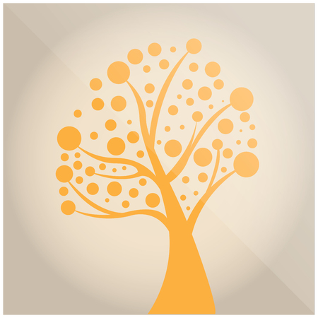 tree isolated: Isolated abstract tree on a colored background Illustration