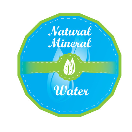 organic fluid: Isolated mineral water banner on a white background