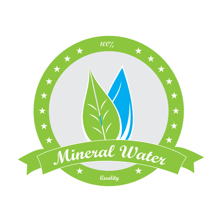 mineral water: Isolated mineral water banner on a white background
