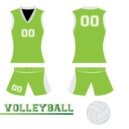 voleibol: Uniforme deportivo aislados y algunos elementos de voleibol